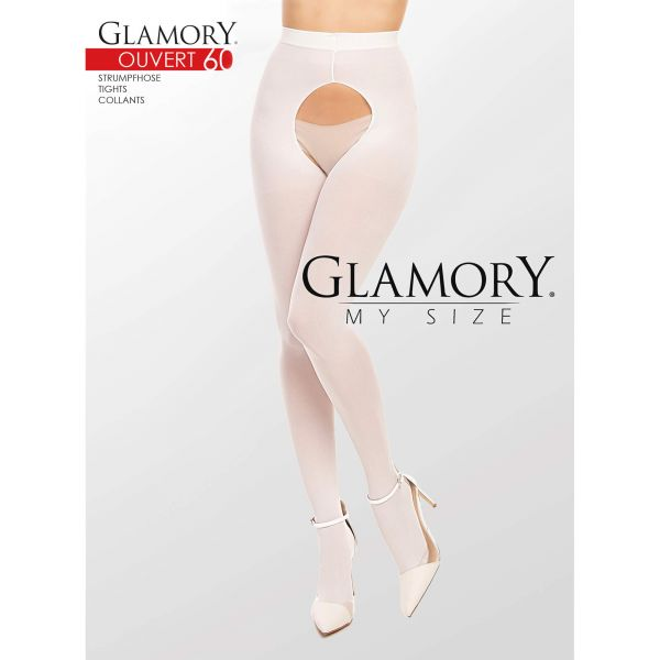 Glamory Strumpfhose 50126 Ouvert 60 Weiß