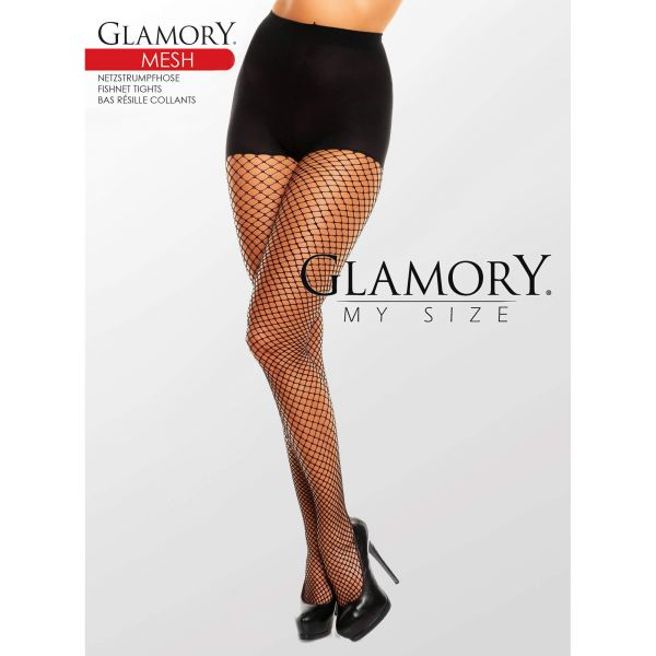 Netzstrumpfhose Schwarz 50351 Mesh Black Glamory