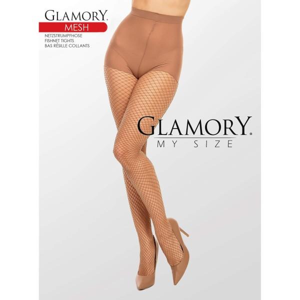 Netzstrumpfhose Braun 50351 Mesh Make Up Glamory