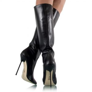 Stiletto Stiefel mit Metallabsatz - SK060007