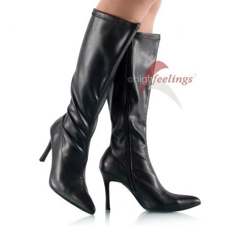 Stiefel mit weitem Schaft