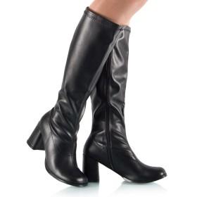Stretch-Stiefel Weitschaft Blockabsatz - SK080063