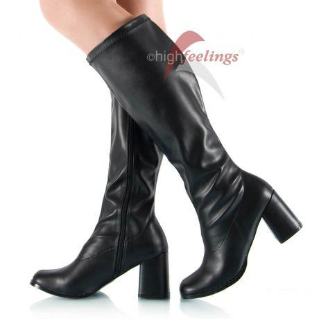 Stretch-Stiefel Weitschaft Blockabsatz