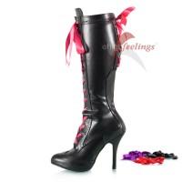 Stiefel mit bunter Schnürung - SK080077