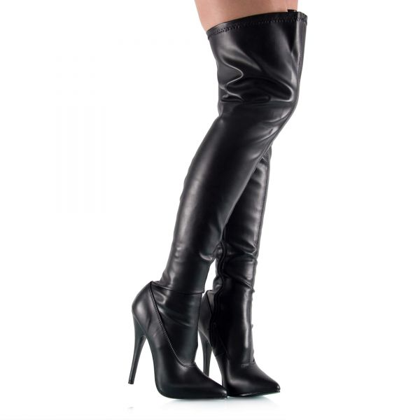 Hohe Overknee Stiefel aus Stretch
