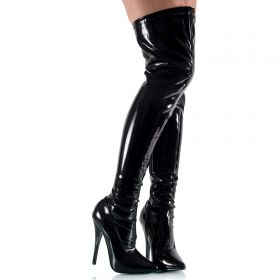 High Heels Lack Overknees - SO080006