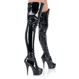 High Heels Overknee Plateau Stiefel - SO080024
