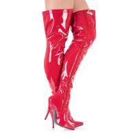 Vorschau: Rote Overknee Stiefel