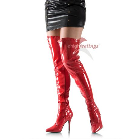 rote overknee stiefel lack sexy boots high feelings. Black Bedroom Furniture Sets. Home Design Ideas