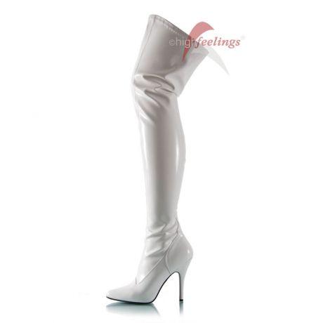 Overknee Stiefel Weiß