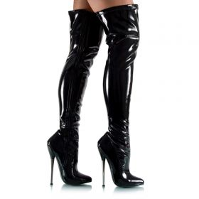 Extreme Overknees aus Stretch-Lack - SO080031