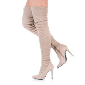 Overknee Stiefel Beige - SO330009