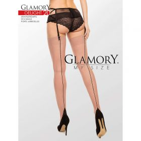 Strapsstrümpfe Schwarze Naht Glamory Delight 20 DEN Teint - ST040010
