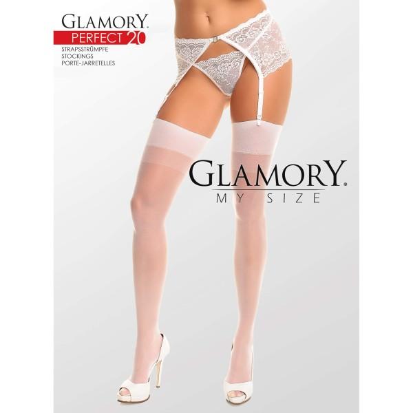 Strapsstrümpfe Weiß Glamory 50131 Perfect 20