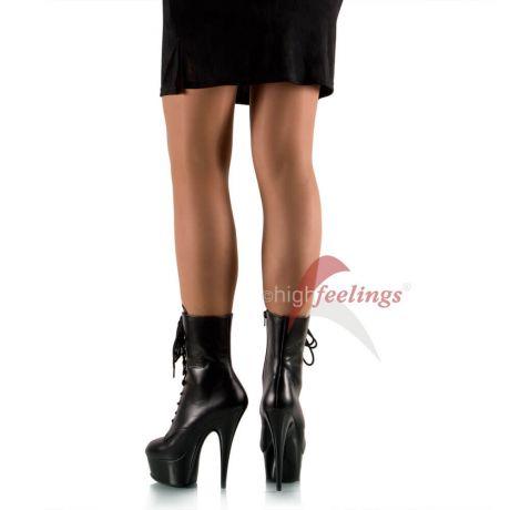 high heels plateau stiefeletten leder schwarz high feelings. Black Bedroom Furniture Sets. Home Design Ideas